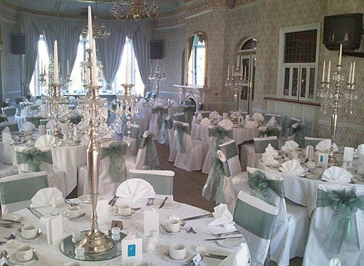 Sheer Elegance Wedding Chair Covers Bows Sashes