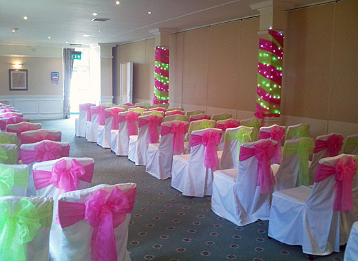 Sheer Elegance - Wedding chair covers, bows, sashes, candelabras ...